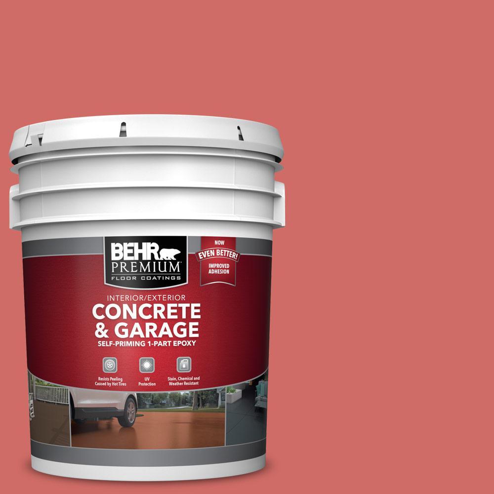 BEHR PREMIUM 5 gal. #M160-6 Matadors Cape Self-Priming 1-Part Epoxy Satin Interior/Exterior Concrete and Garage Floor Paint