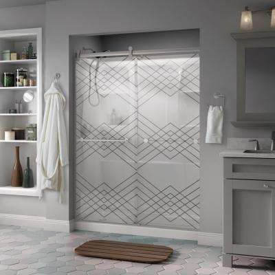 Frosted Patterned Shower Doors Showers The Home Depot