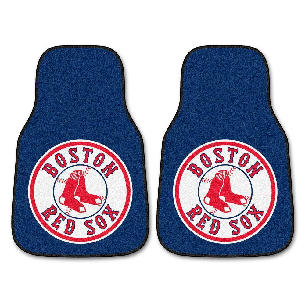 Boston Red Sox 18 in. x 27 in. 2-Piece Carpeted Car