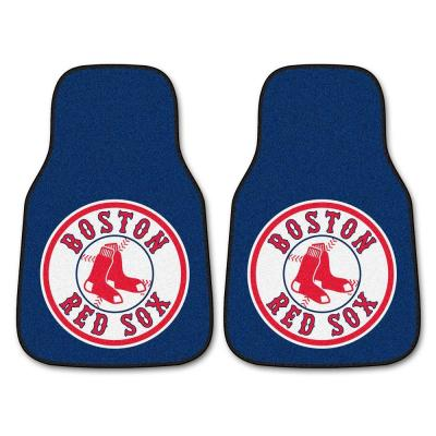 Boston Red Sox 18 in. x 27 in. 2-Piece Carpeted Car Mat Set