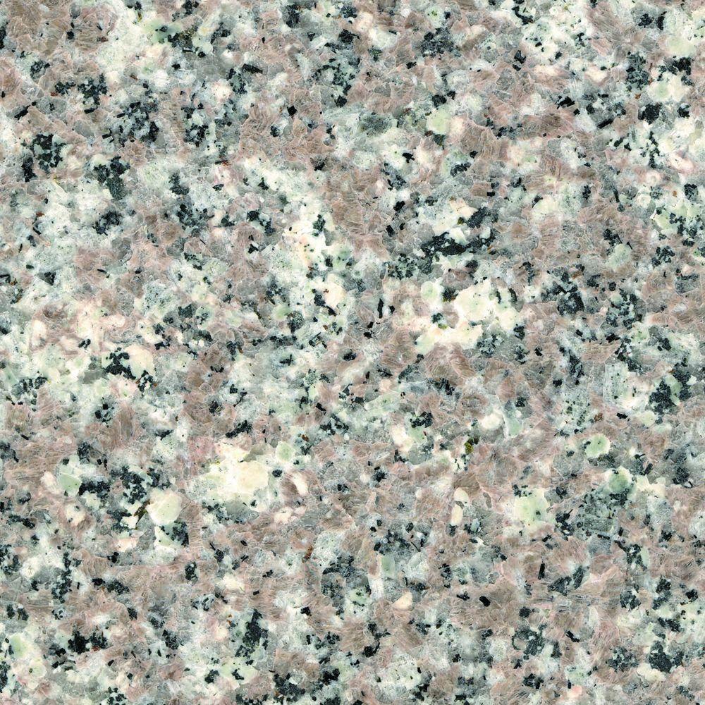 4 in. x 4 in. Natural Granite Vanity Top Sample in Burlywood
