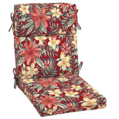 Ruby Clarissa Tropical Outdoor High Back Dining Chair Cushion