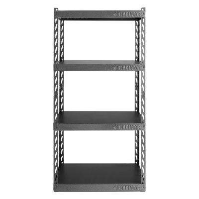 60 in. H x 30 in. W x 15 in. D 4-Shelf Steel Garage Shelving Unit with EZ Connect