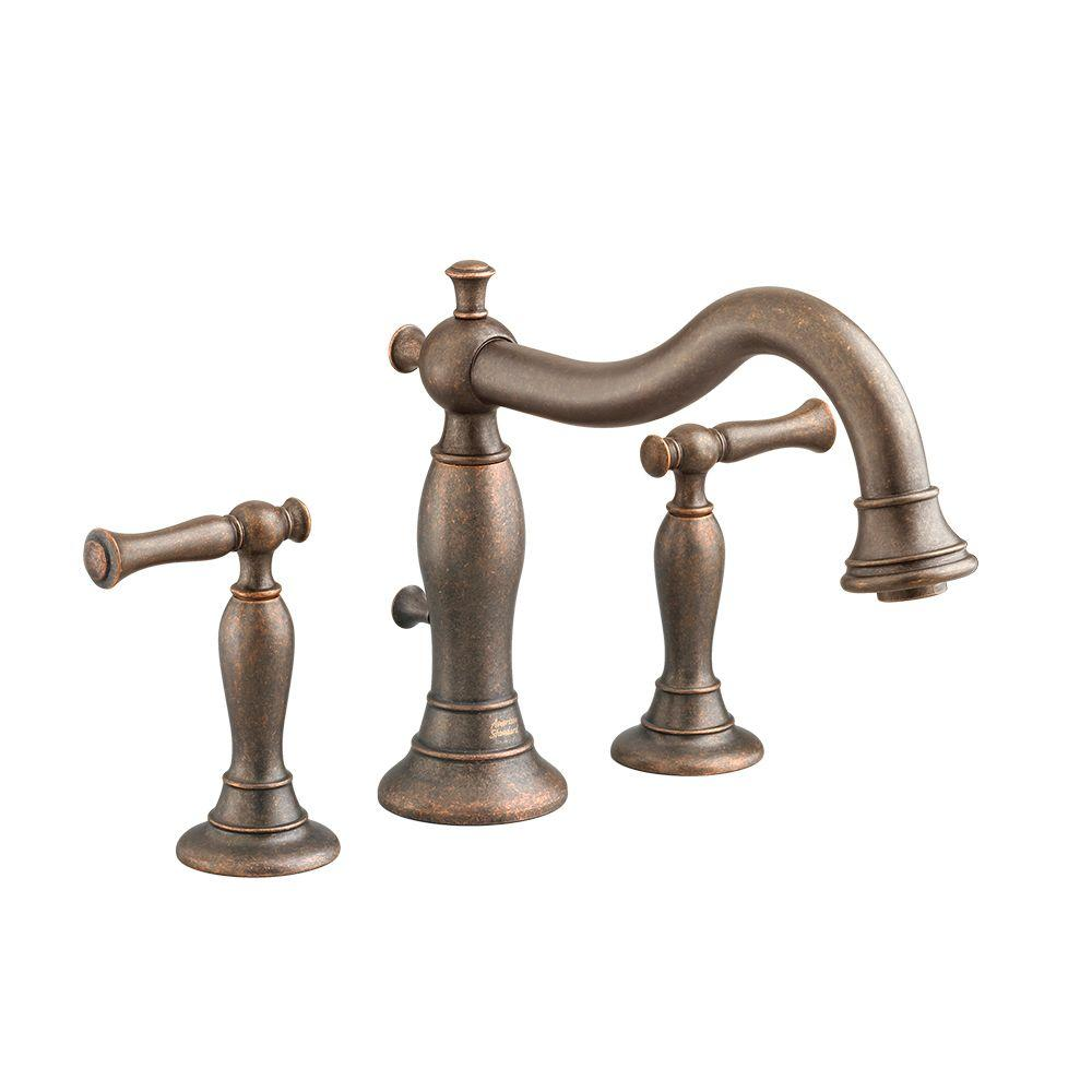 American Standard Quentin 2-Handle Deck-Mount Roman Tub Faucet with Less Handshower in Oil Rubbed Bronze