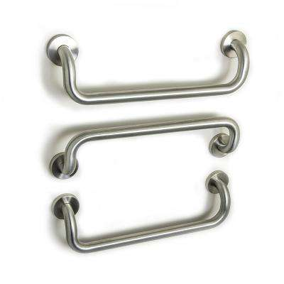 20 in. Dual Bent Grab Bars in Brushed Stainless Steel (3-Pack)