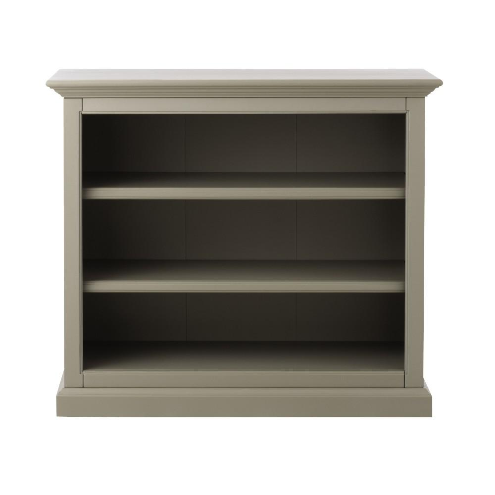 Ingrid Rubbed Gray Open Bookcase