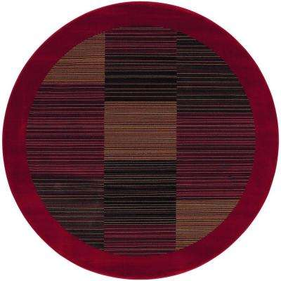 Everest Hampton's Red 3 ft. 11 in. x 3 ft. 11 in. Round Area Rug