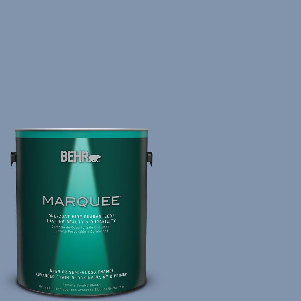 1 gal. #T16-13 Stratus Semi-Gloss Enamel Interior Paint