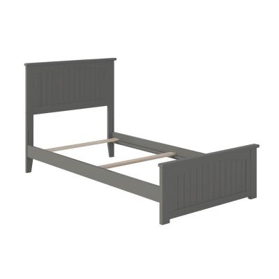 Nantucket Twin XL Traditional Bed with Matching Foot Board in Grey