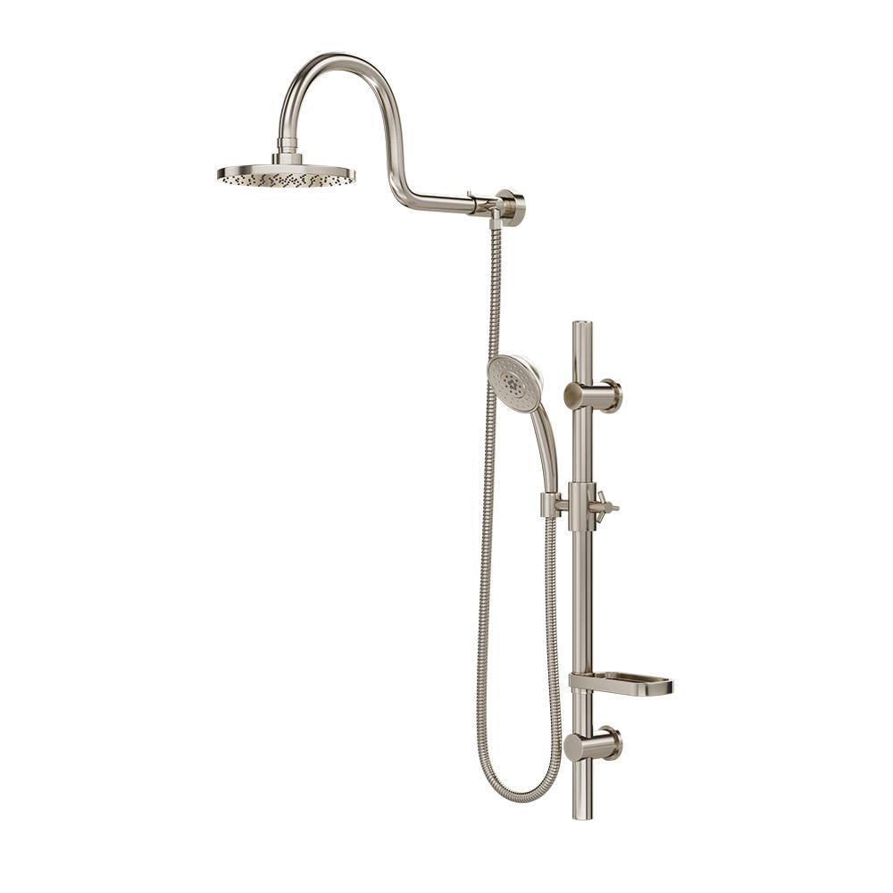 AquaRain Retrofit Shower System with Hand Shower and Shower Head Combo