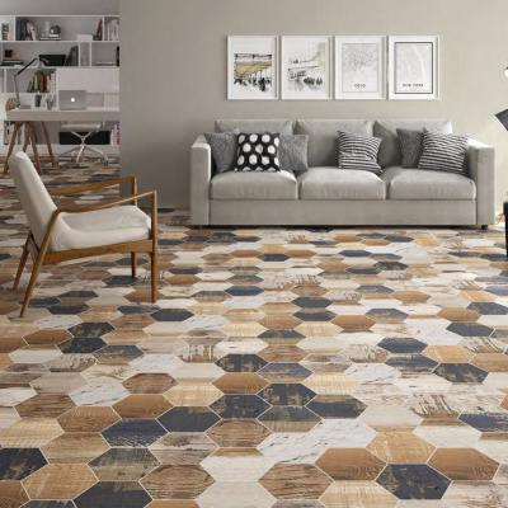 Gaugin Hex Catan Shadow 8-5/8 in. x 9-7/8 in. Porcelain Floor and Wall Tile (11.56 sq. ft. / case)