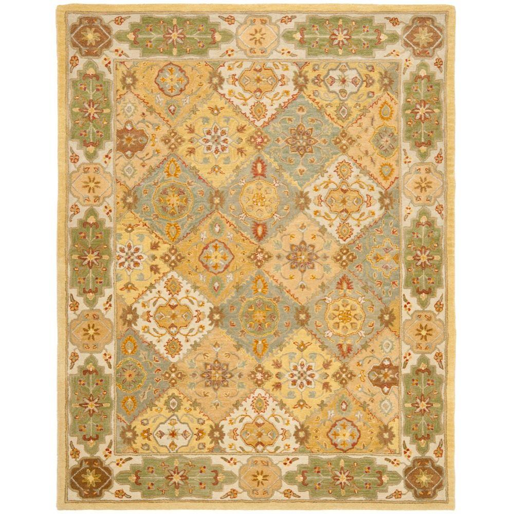 Safavieh Heritage Multi Ivory 6 Ft X 9 Ft Area Rug Hg512c 6 The