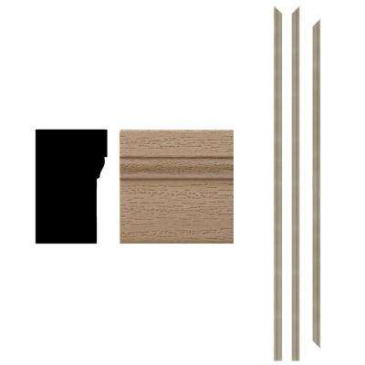 4Ever Frame 180 1-1/4 in. x 2 in. x 83-1/2 in. Woodgrain Primed Composite Patio Brickmould Kit (3-Piece)