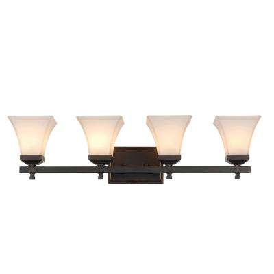 4-Light Rubbed Oil Bronze Bath Light