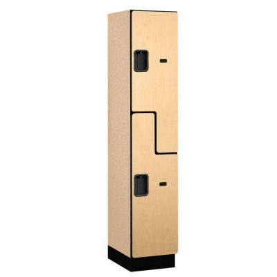 27000 Series 2-Tier 'S-Style' Wood Extra Wide Designer Locker in Maple - 15 in. W x 76 in. H x 18 in. D
