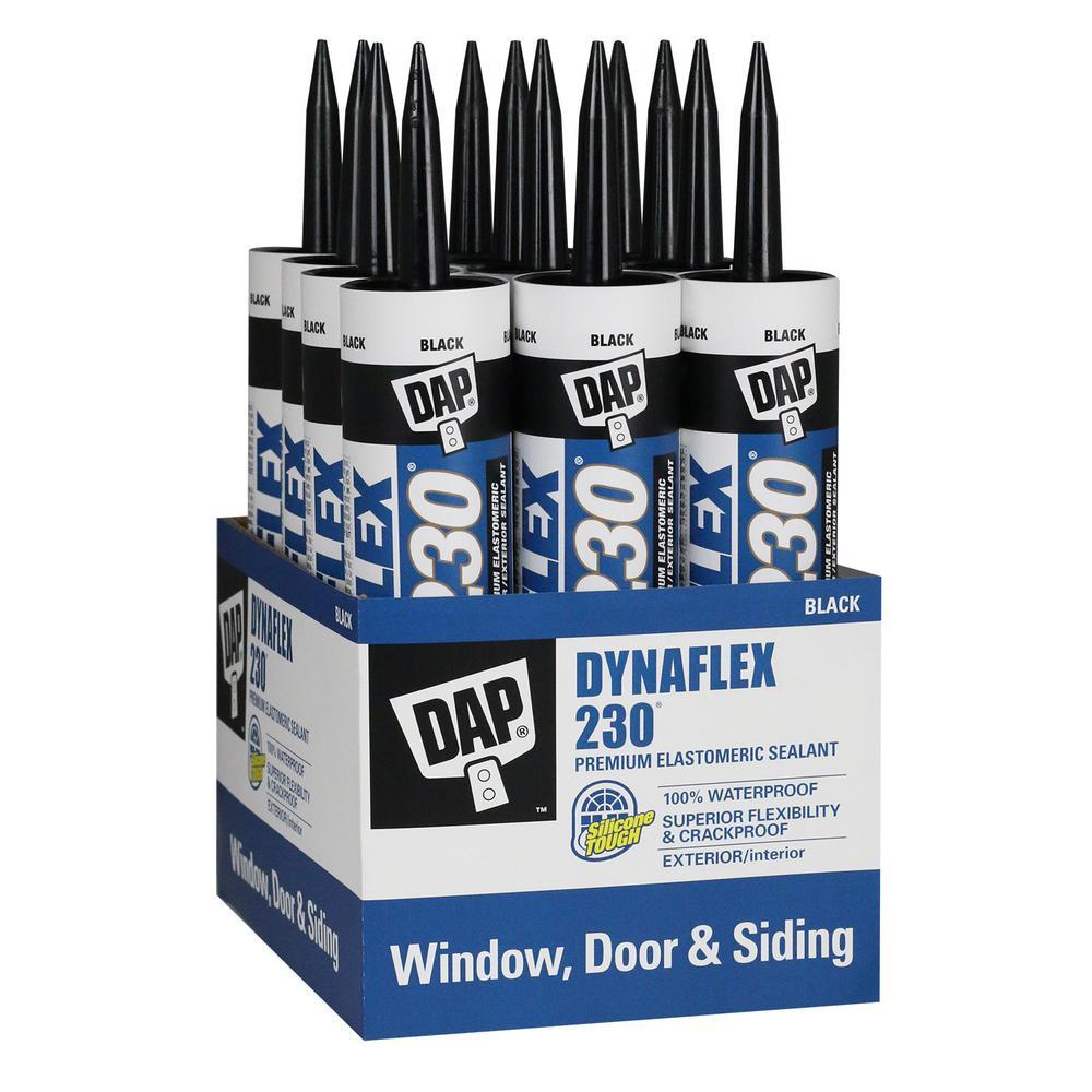 DAP Dynaflex 230 10.1 oz. Black Premium Indoor/Outdoor Sealant (12-Pack)