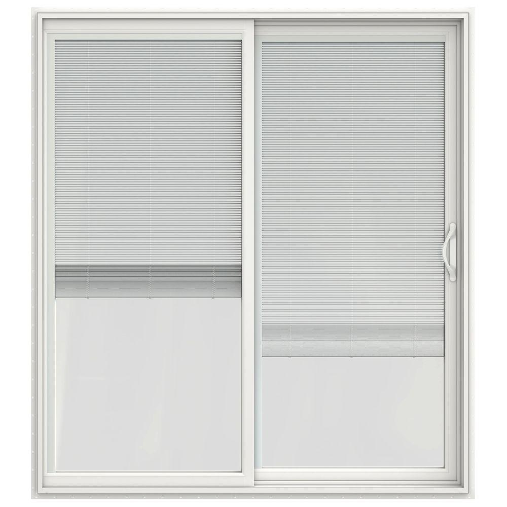 JELD WEN 72 In. X 80 In. V 2500 Series Vinyl Sliding