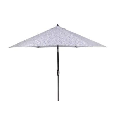 9 ft. Aluminum Market Patio Umbrella in London Trellis Seaglass