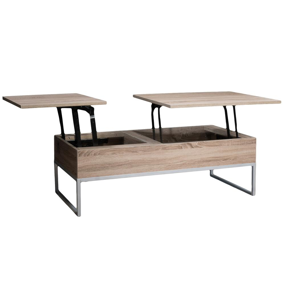 Where To Buy Lift Top Coffee Tables With Storage: Noble House Saele Dark Sonoma Lift Top Storage Coffee