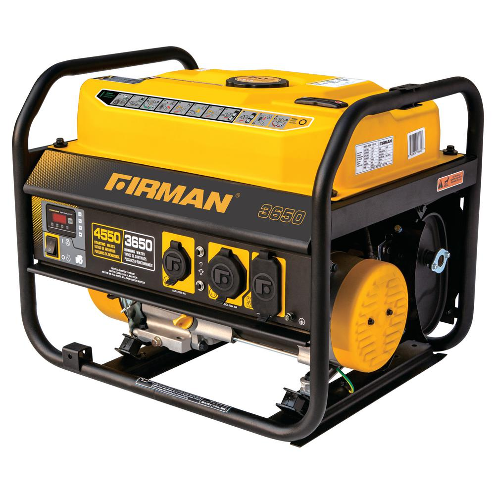 Performance 4550/3650-Watt Gas Powered Extended Run Time Portable Generator