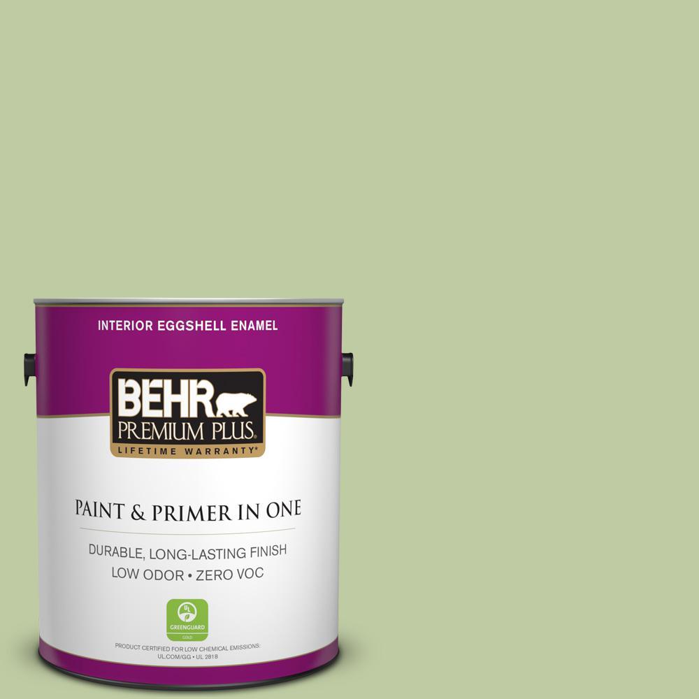 BEHR Premium Plus 1 gal. #M360-4 Marjoram Eggshell Enamel Zero VOC Interior Paint and Primer in One