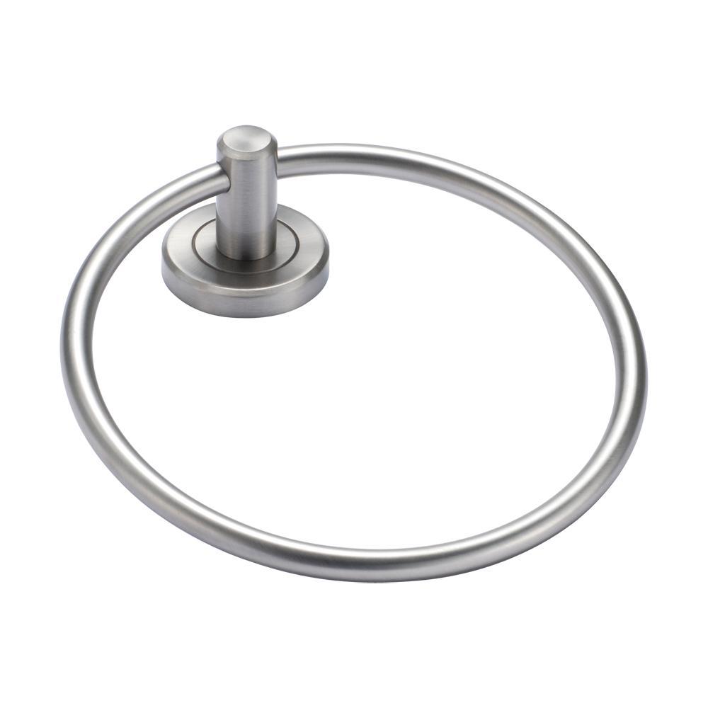 Latitude II Towel Ring in Satin Nickel