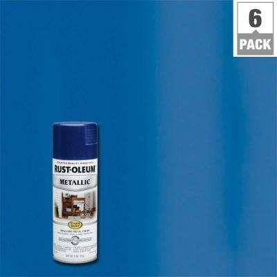 11 oz. Metallic Cobalt Blue Protective Spray Paint (6-Pack)