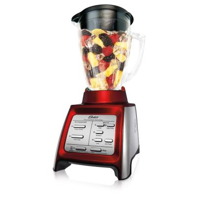 Designed for Life 48 oz. 7 Speed Red Blender with Smoothie Cup