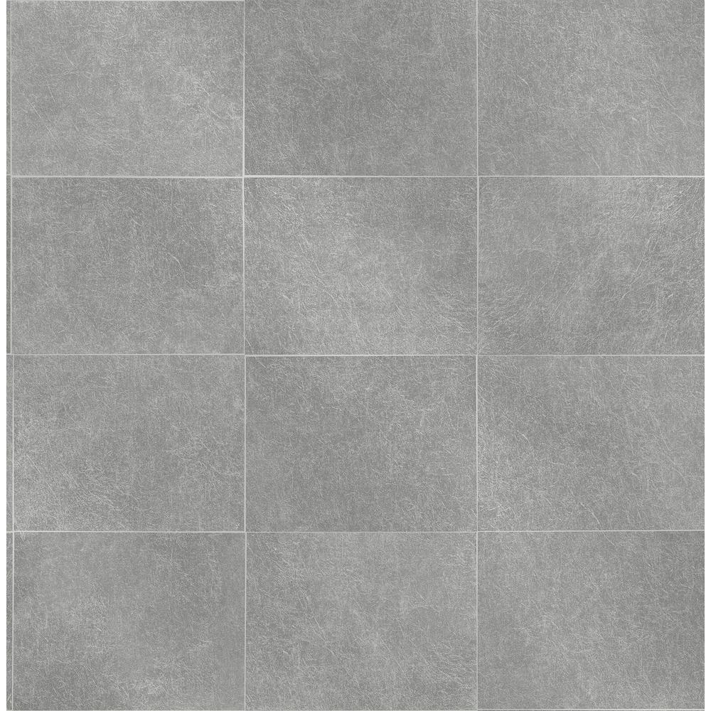 Cecelia Grey Geometric Wallpaper Sample
