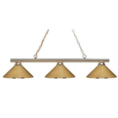 Lawrence 3-Light Polished Brass Incandescent Ceiling Island Light