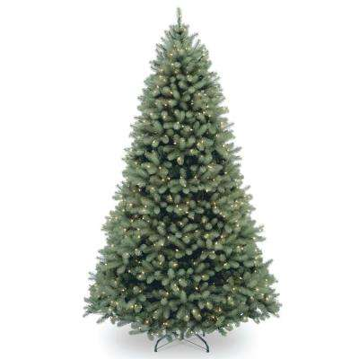 6 ft. Feel Real Downswept Douglas Blue Fir Hinged Tree with 600 Clear Lights