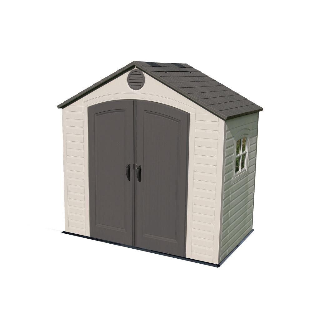 Lifetime 8 ft. x 5 ft. Outdoor Storage Shed, Browns/Tans