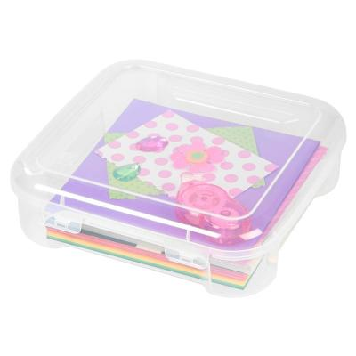 6 in. x 6 in. Portable Project Case in Clear (8-Pack)