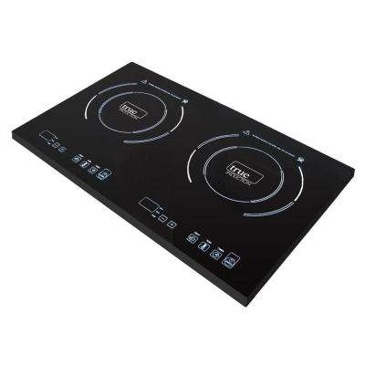 23 in. Glass Induction Cooktop in Black with 2 Induction Elements