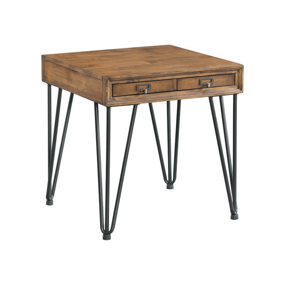 Light Walnut Wood Caleb Accent Table: Picket House Furnishings Tanner Light Walnut Transitional