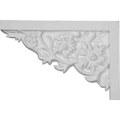 11-3/4 in. x 3/4 in. x 7-7/8 in. Primed Polyurethane Floral Large Right Stair Bracket