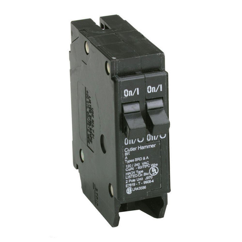 Eaton 15/15 Amp Single-Pole Type BR Tandem Circuit Breaker