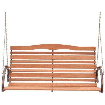 Country Garden Natural Wood High Back Patio Swing Seat (Assembly Required)