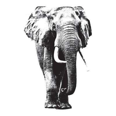 110.2 in. x 39.4 in. Elephant Wall Decal