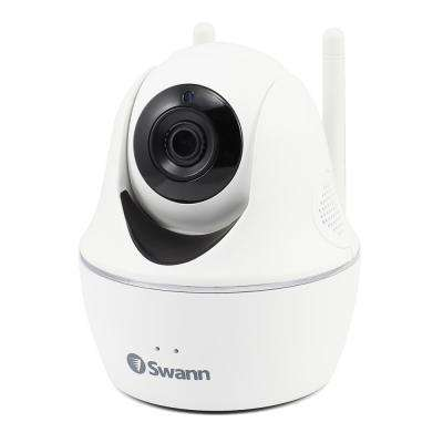 1080p Full HD Wi-Fi Pan and Tilt Wired White Security Camera