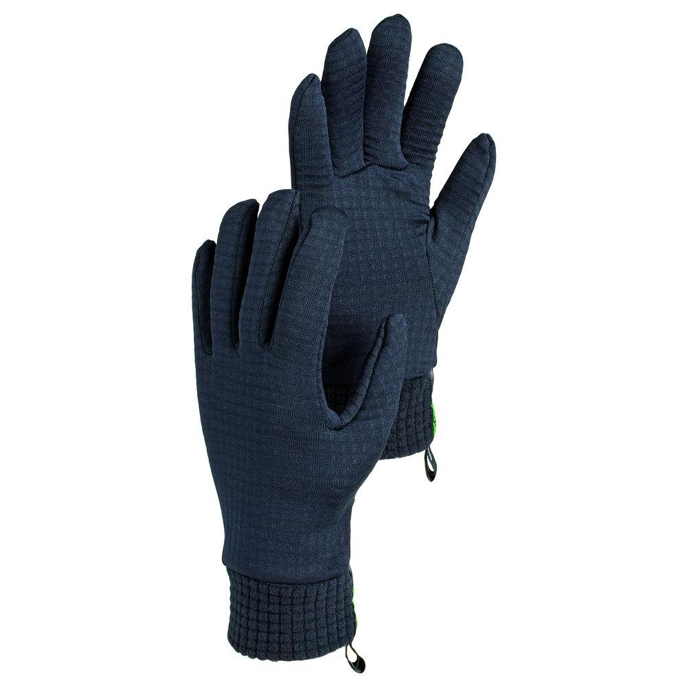 Hestra JOB Calesco Size 9 Medium/Large Thin Polartec Ribbed Gloves in Black-DISCONTINUED