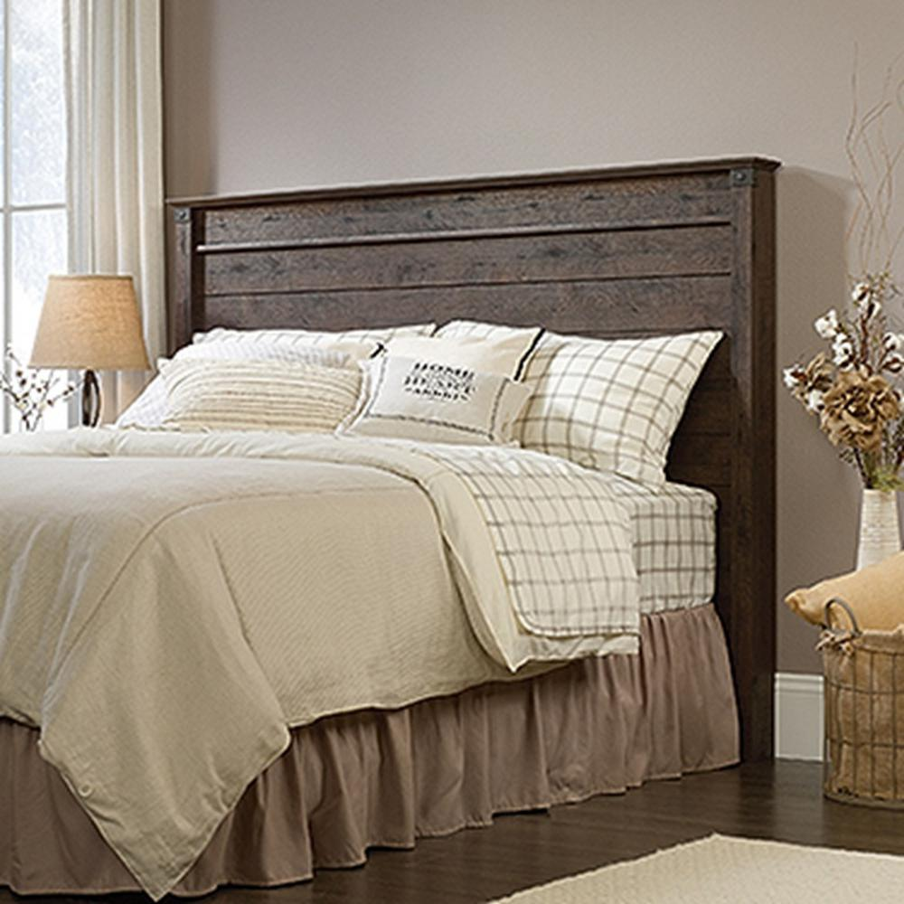 sauder carson forge coffee oak full queen headboard 419887. Black Bedroom Furniture Sets. Home Design Ideas