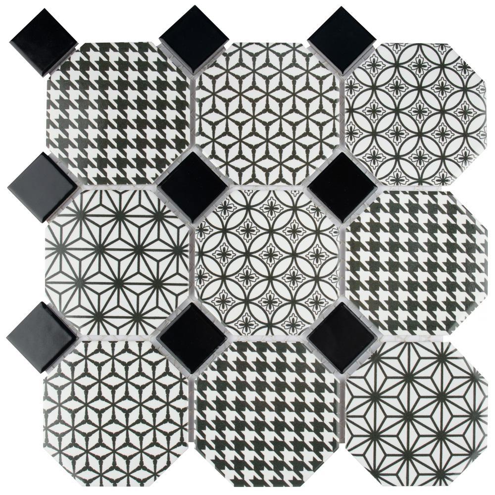 Misto 11-3/4 in. x 11-3/4 in. x 6 mm Porcelain Mosaic Tile (9.79 sq. ft. / case)