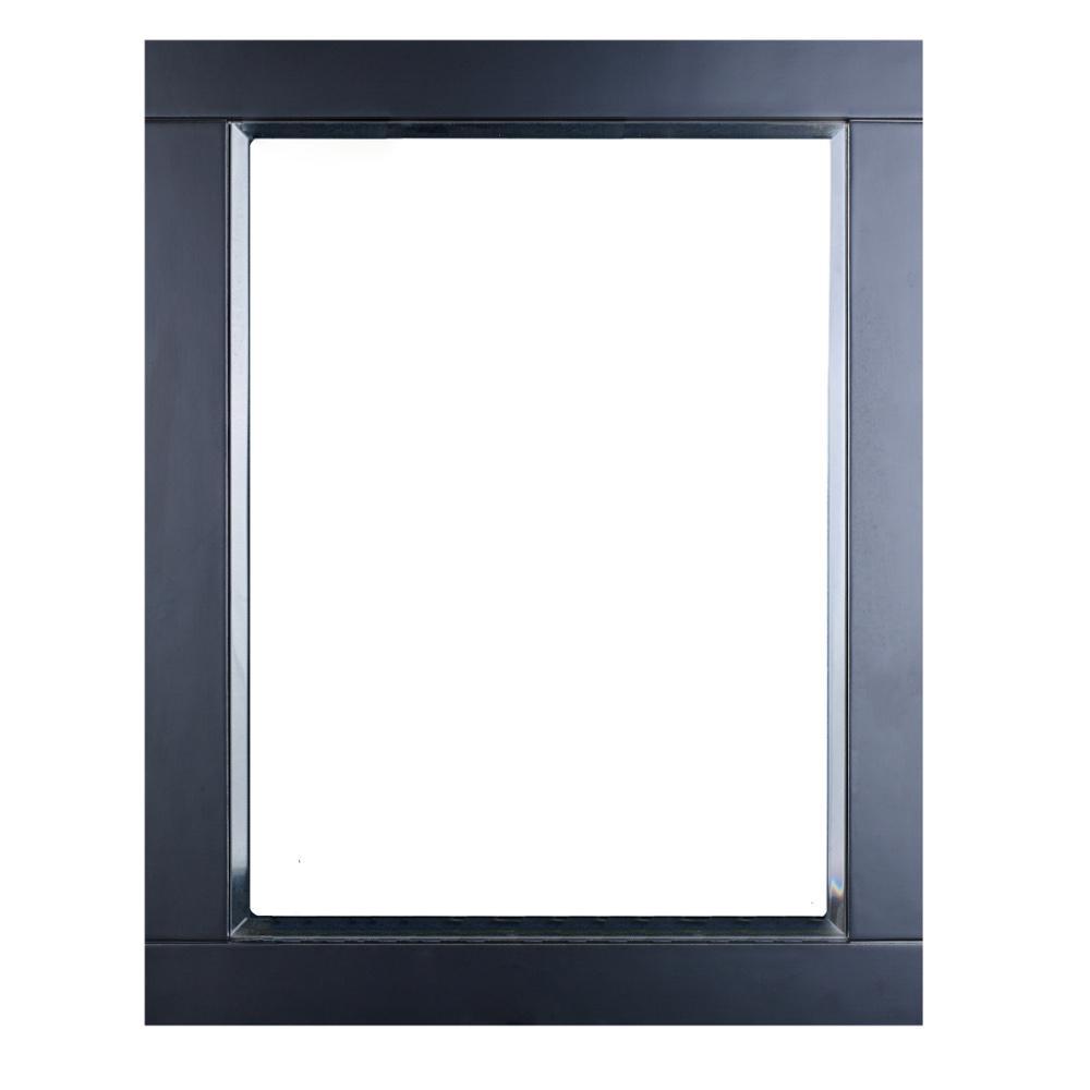 Aberdeen 24 in. W x 30 in. H Framed Rectangular Bathroom Vanity Mirror in Espresso
