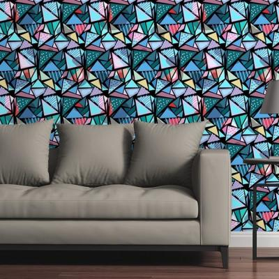 80's Diamonds Dark by Circle Art Group Removable Wallpaper Panel