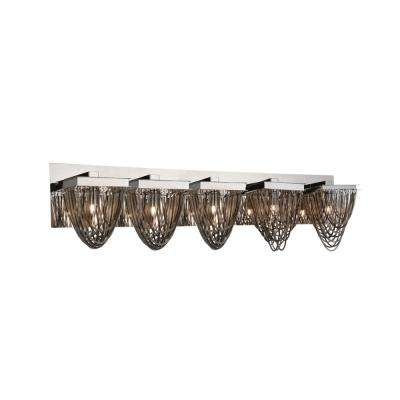 Isla 5-Light Chrome Sconce