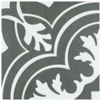 Take Home Tile Sample - Twenties Classic Encaustic Ceramic Floor and Wall Tile - 7-3/4 in. x 7-3/4 in.