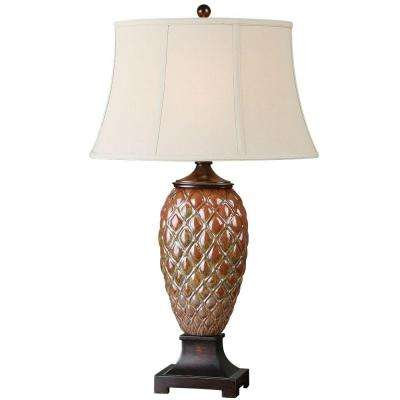 33 in. Rust Brown Table Lamp