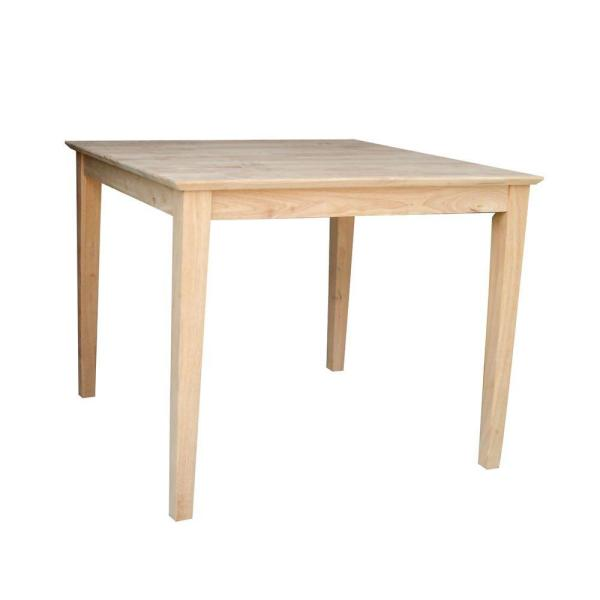 International Concepts Unfinished Shaker Dining Table