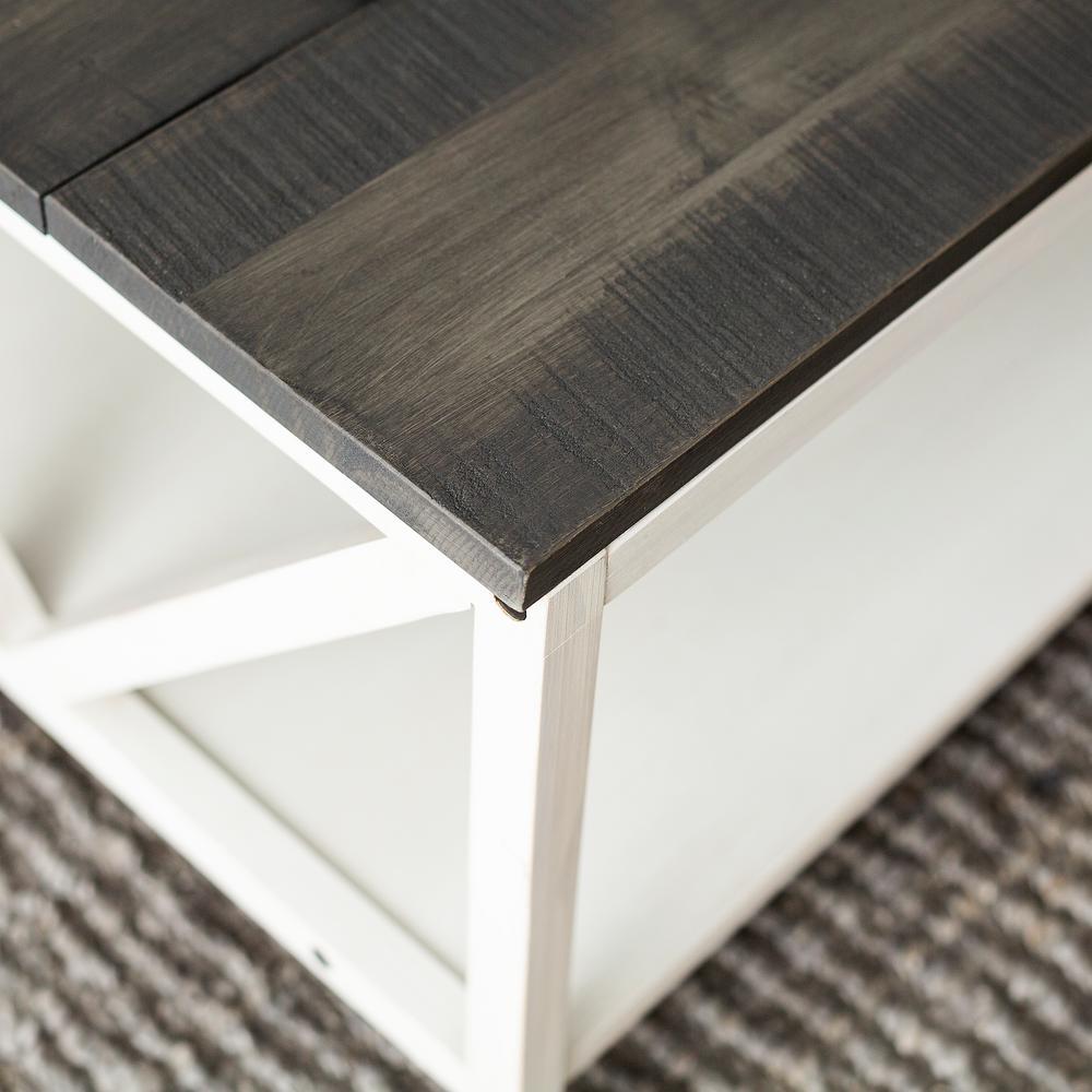 Fabulous Welwick Designs Grey White Wash Distressed Farmhouse Coffee Machost Co Dining Chair Design Ideas Machostcouk